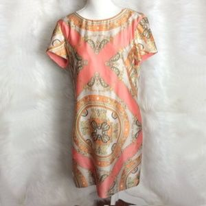 Julian Taylor NWT Peach and Cream dress Size 10